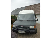 Matt Black and White LDV Convoy Minibus Campervan Conversion, 1997, LWB