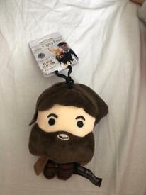 Harry Potter plush clip on keychain - Hagrid