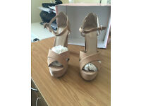 Topshop beige suede platform shoes (worn once!)