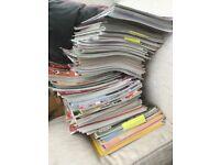 Pile of creative magazines