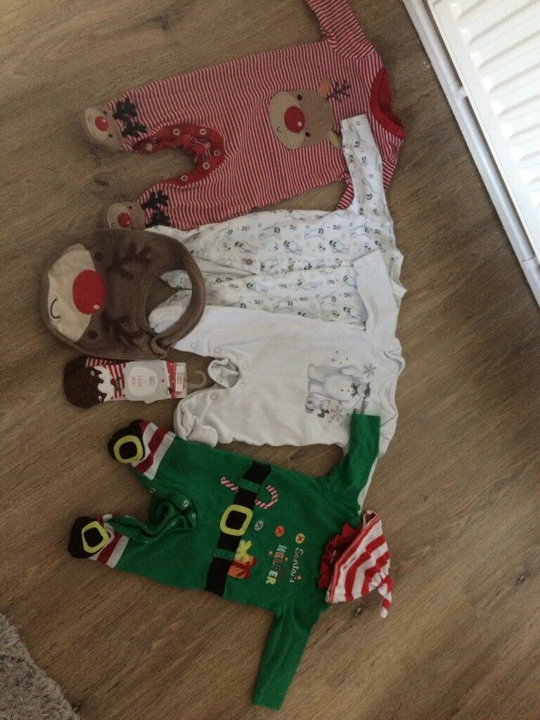 Xmas baby clothes bundle