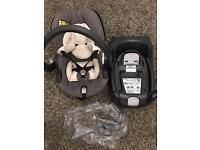 Stokke BeSafe car seat and baby carrier (0-18 m) & BeSafe iZiGO Isofix base and rain cover