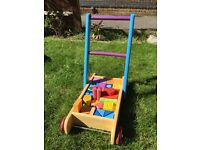 Wooden Baby Walker - fab condition