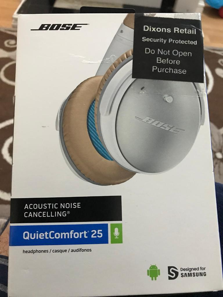 Bose QC25 Noise Cancelling White Headphones(Samsung Devices) | in Kitts  Green, West Midlands | Gumtree