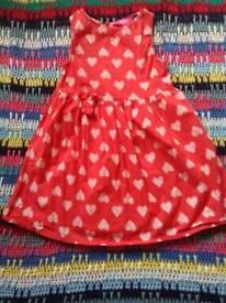Girls red dress/top 7-8yrs