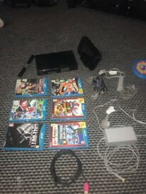 Wii u console with 6 games
