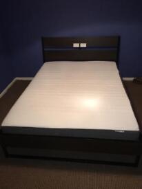 Kingsize bed with memory foam mattress (from Ikea)