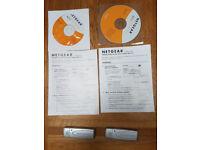 Two netgear wg111v2 wifi adapters