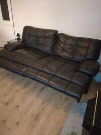 Comfortable leather recliner sofa set