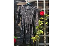 Black dance dress, light and flowy, size 6