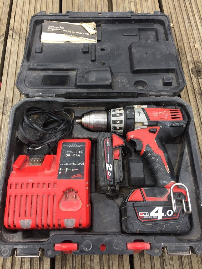 Milwaukee cordless drill 18v   in Totton, Hampshire   Gumtree