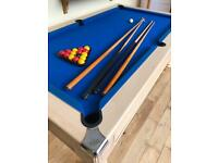 Monarch slate bed freeplay pool table 7ft x 4ft and accessories