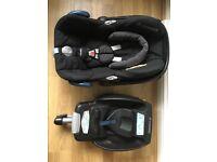 Maxi-Cosi CabrioFix car seat and Iso-fix base