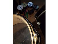 Full size drum kit some wear and rush makers but still ok