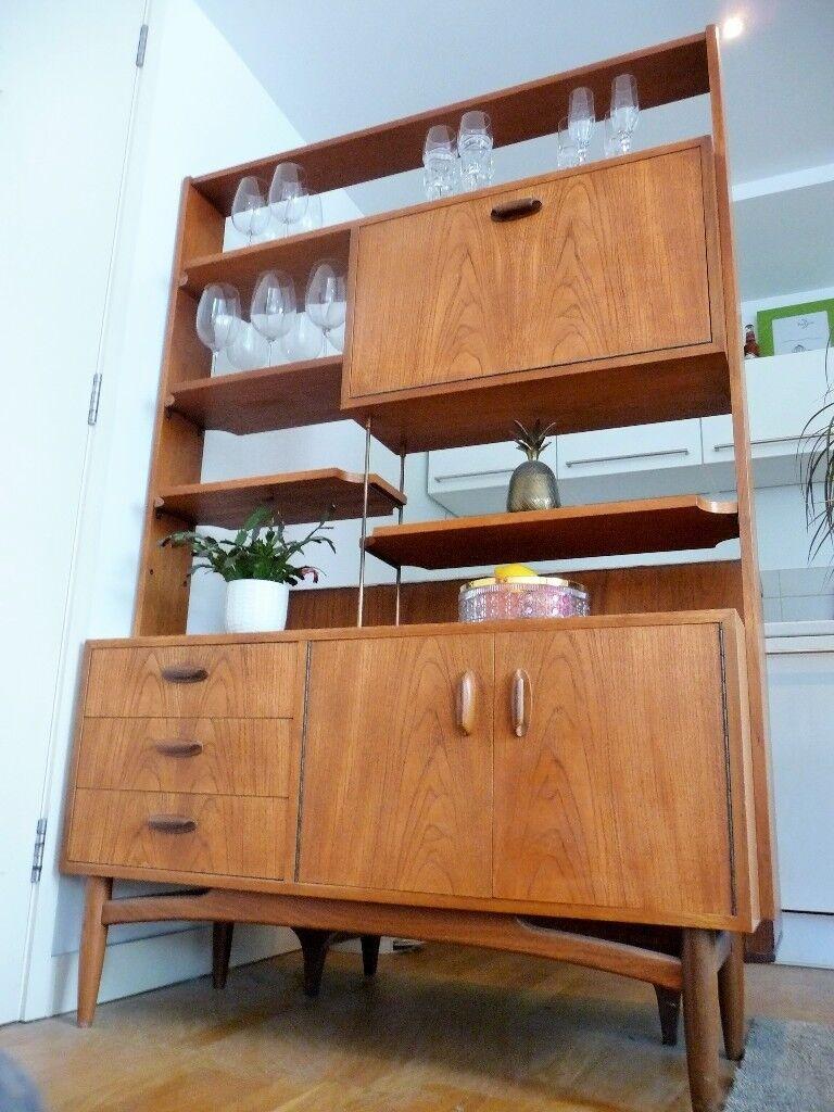 Mid century Vintage G Plan E Gomme Librenza Room Divider Display