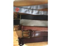 Selection of men's belts