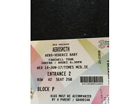One seated Aerosmith ticket 3 Arena Dublin 14th June 2017 Farewell Tour Sold Out