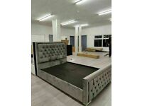 LIMITED OFFER HEAVEN BED FRAME PLUSH VELVET FABRIC HIGH QUALITY AND SAME DAY DELIVERY