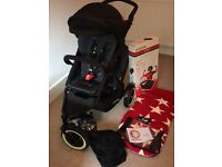 Phil & Teds dot with double seat, cocoon, footmuff, rain & sun cover. Excellent condition