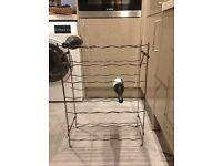 Metal wine rack for sale, £6