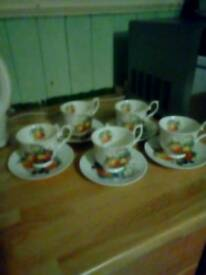 Royal gallery china tea cups saucers