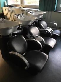 REM Triple hairdressing salon backwash sink set