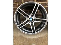 "Genuine bmw 313 19"" front alloy"