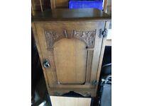 Wooden Side Table/Storage Cupboard