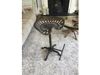 Vintage antique tractor stool