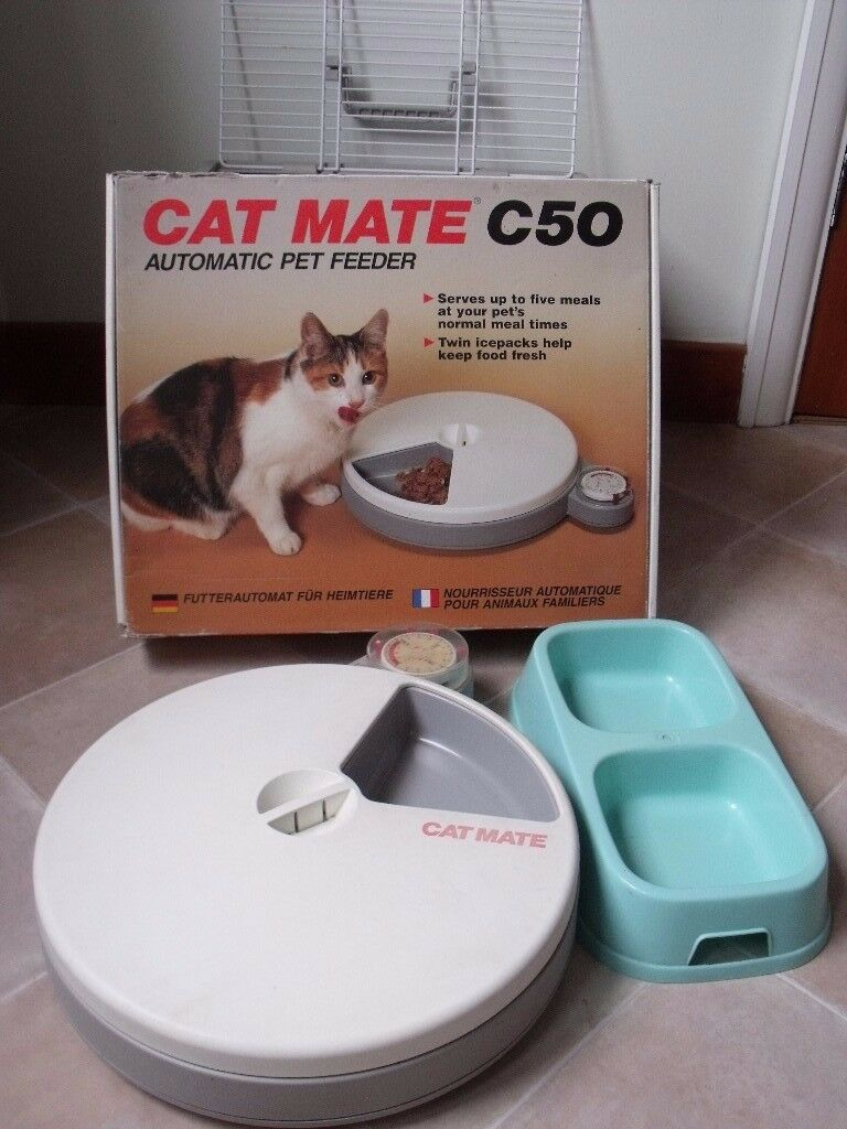 Cat Mate 5 meal feeder and cat carrier