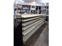 Shop shelving, racking & peg boards, ranging from £35-£60 a bay