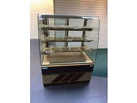 TRIMCO CHOCOLATE DISPLAY CABINET WITH GOLD TRAYS
