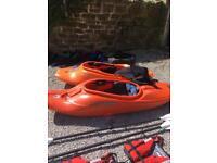 Kayak playboats