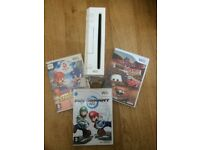 Nintendo Wii Console with Cars Game, Mariokart Game and Mario and Sonic Olympic Game