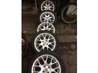 Mg/rover alloy wheels