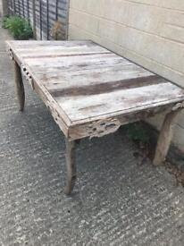 Stunning rustic dining table