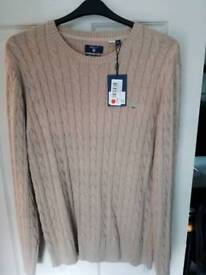 Gant cable knit jumper brand new