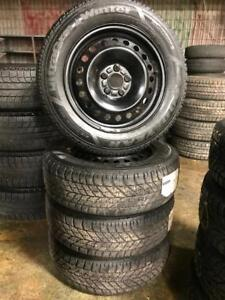 215 60R 16 GOODYEAR ULTRA GRIP WINTER SNOW TIRES & RIMS 5X108 BOLT WORKS ON FORD FUSION VOLVO IN EXCELLENT CONDITION