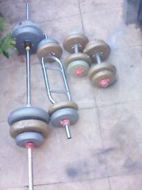 vinyl weights set over 50 kg in total