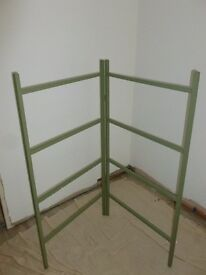 VINTAGE FARROW & BALL GREEN CLOTHES HORSE AIRER