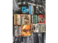 2 Chris Ryan Books, 1 Gerald Seymour Book, 1 Ewen Southby-Tailyour Book & 1 CSI: NY Book