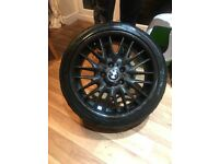"18"" genuine BMW carbon fibre dipped alloys with tyres"