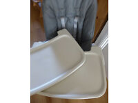 **REDUCED** Oxo Tot 'Seedling' High Chair in 'Graphite'. Designer high chair, excellent condition.