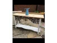FABULOUS SHABBY CHIC CONSOLE TABLE