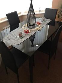 Brand new dining table & 4 chairs SOLD PENDING COLLECTION