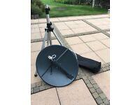 Satellite dish with tripod stand