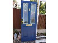 Door and frame, UPVC used as a front door.