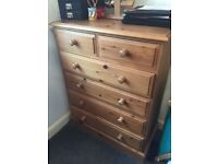 Solid pine drawers - excellent