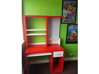Ikea Red & White Desk