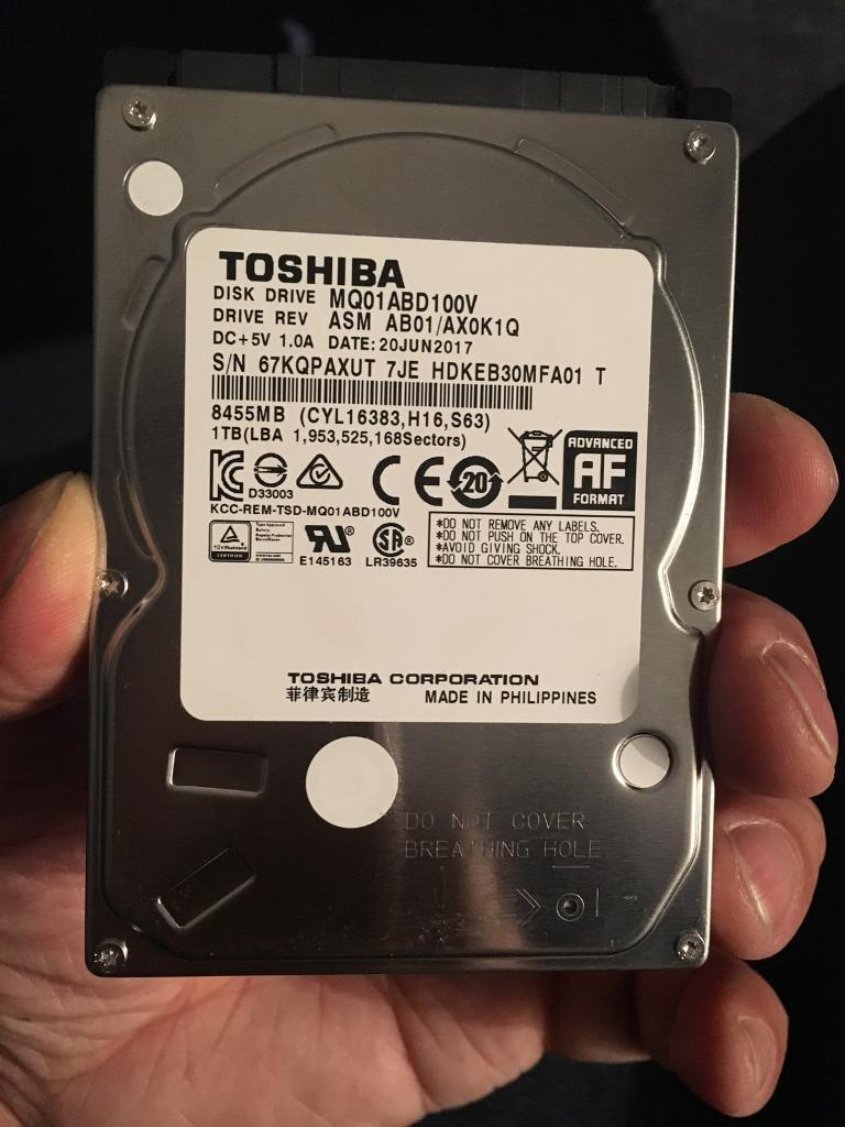 1tb Toshiba Mq01abd100v Hard Drive 95mm Sata 25 In Salford Hardisk Notebook Inch